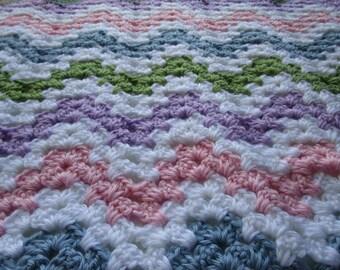 Crochet Pattern, Baby Blanket, Crochet Blanket Pattern, Crochet Afghan Pattern, PDF Pattern, Throw Blanket, Tutorial, GRANNY CHEVRON
