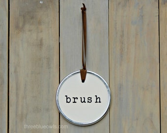 Brush Sign Bathroom Sign