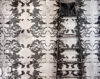 Ink Blot Abstract Allover Wall Art Stencil