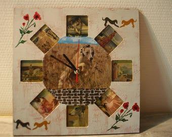 clock wood greyhounds
