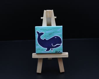 Miniature Whale Painting