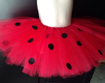 Red Ladybug Tutu - Children's, Teens, Adults, Plus Size