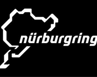 nurburgring window decal bumper sticker