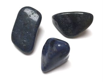 Dumortierite Tumbled Stones. Polished Stones. Dark Blue. Gemstone. Undrilled. Wire Wrapping Stone. 30mm - 45mm. One (1)