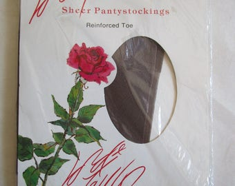 Vintage Early 1990s Stockings Lord and Taylor Hoisery Pale Taupe 90s Designer Nylons Small B