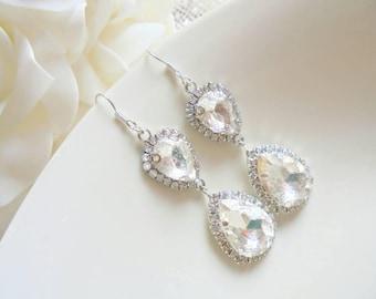 Bridal earrings, wedding earrings, drop earrings, sparkly earrings, bridesmaid earrings, gift earrings, wedding jewellery, party earrings