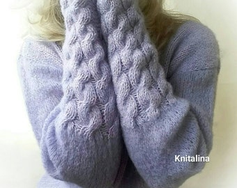 Pullover for woman,lilac sweater,lilac pullover,cozy sweater,silk sweater, violet sweater, purple sweater,alpaca sweater,knithand pullover