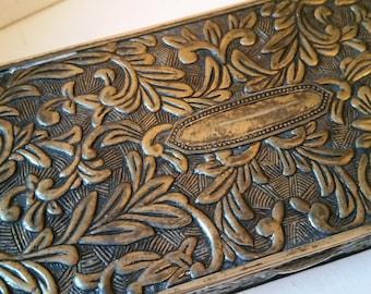 Silver Tone jewelry box, nice detail