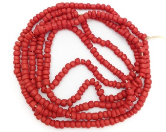 Maasaiperlen, Africa, dark red, 2mm, 1 strand, 58, seed beads, african, beads, glass beads, glass beads