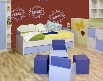 Boy Noise - Action Words Vinyl Wall Decals