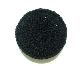 Black Crocheted Nylon Netting Dish Scrubbie-Large