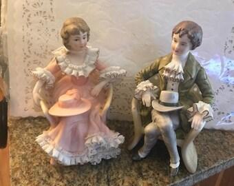 Victorian Bisque Couple