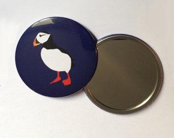 Puffin pocket mirror 76mm
