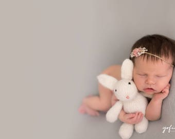 Knit Rabbit Photo Prop, Newborn Photo Prop, Photo Prop, Bunny, Knit bunny, Knit Rabbit Prop, Newborn, Knitted bunny, stuffed animal,