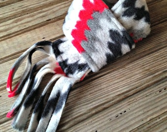 Dog Scarf, Winter Dog Scarf, Chevron Dog Scarf, Fleece Dog Scarf