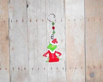 Grinch Who Stole Christmas Ornament // Holiday Decor // Dr Seuss // Christmas Tree Ornament // Stocking Stuffer // X-Mas Gift // Vintage
