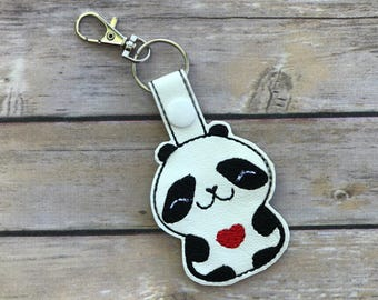 Cute Panda Key Fob. Bag Tags Keychain