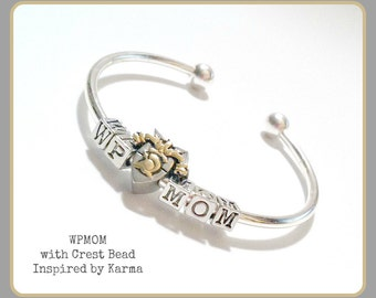 West Point Mom Bangle Cuff -Crest,USMA Mom,Mother's Day,Gifts for Mom,Military Jewelry,Military Gifts,Army Mom,West Point Jewelry