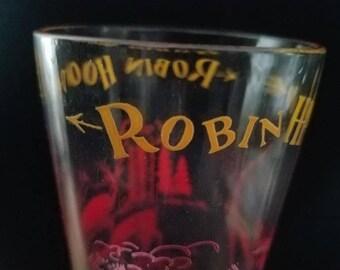 1950's Robin Hood Drinking Glass