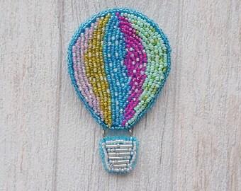 Brooch Hot air balloon (beads) Брошь воздушный шар из бисера