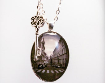 Streets Of Italy Necklace Photograph Pendant Handmade Europe