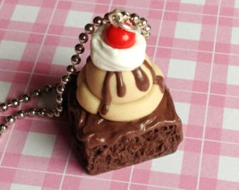 Brownie Ice Cream Necklace