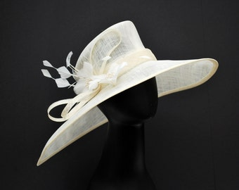 Ivory Easter Hat, Church hat, Tea Party Hat, Ivory Hat, Formal Hat, Fashion Hat, Church Hat, Derby Hat