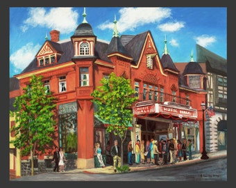 Tarrytown Music Hall with New Marquee by Ronnie Levine