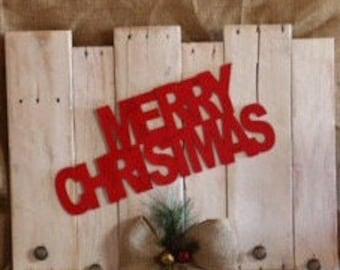 Merry Christmas Stocking Holder,Refurbished Wood Sign,Stocking Holder,StockingDecoration,StockingHanger,Home&Living,RusticDecor,HolidayDecor