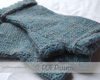 PDF FILE - Dorset Mitts Adult Size - Handwarmer Knitting Pattern - Fingerless Mitts Knitting patterns for little girls