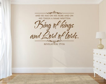 Vinyl Bible Verse. King of Kings and Lord of Lords - CODE 133