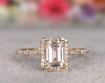 Solid 14k Gold Ring,1.2ct  Moissanite Wedding Ring Yellow gold,Diamond wedding band,Gemstone Promise Bridal Ring,Halo,Prongs