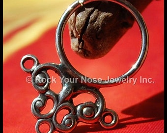 Celtic Nose Ring / Septum Hoop - CUSTOMIZE