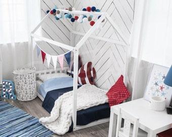 House bed Children bed home Toddler bed Floor bed Montessori bed Home bed Nursery frame bed Original bed Baby bed Home design HEADBOARD