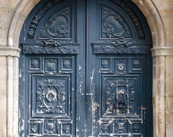 "Paris Photography, ""Marais Door"" Paris Print, Large Art Print Fine Art Photography, Old Door Photo, Portrait Paris Decor"