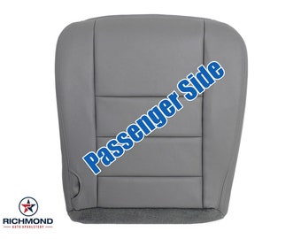 2003 2004 2005 2006 2007 Ford F-250 F-350 Lariat Leather Seat Cover: Passenger Bottom, Gray