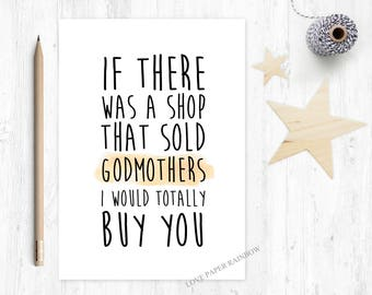 godmother card, funny godmother card, godmother quote, godmother birthday card, thanks godmother, will you be my godmother