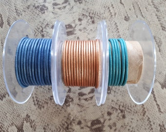 Cord 2.5 mm round high quality European leather