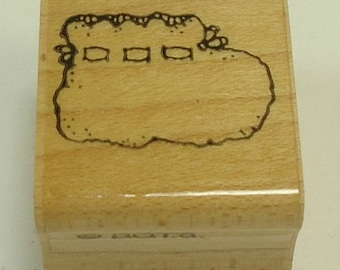 Baby Bootie Wood Mounted Rubber Stamp By DOTS