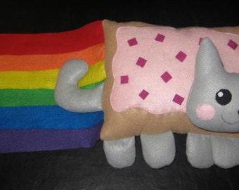 Nyan Cat plush (2 foot) rainbow poptart meme kitty