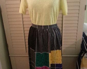 Vintage skirt, 1980's skirt, 1980's vintage skirt,