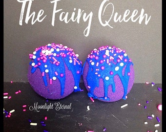 The Fairy Queen Luxe Sparkle Bomb - Handmade Bath Bomb - Violet Bath Bomb
