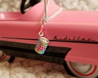 Fizzy pop charm necklace with Swarovski crystal