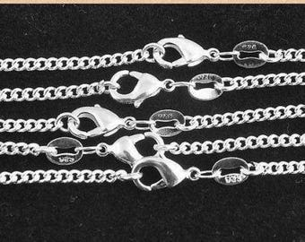 """Sterling Silver ROLO Necklace Chain (1pc) - 2mm Thick - Pick Size 16"""" through 30"""" - Finished Necklace - Lobster Clasp - 925 Stamped"""