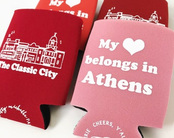 My Heart Belongs in Athens Insulated Can Holder