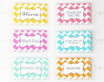 Personalized Luggage Tag Colorful Chevron Stripe Diaper Bag Tag Custom Luggage Tag Zig Zag Pattern Bridesmaid Gift Backpack Tag Travel Gifts