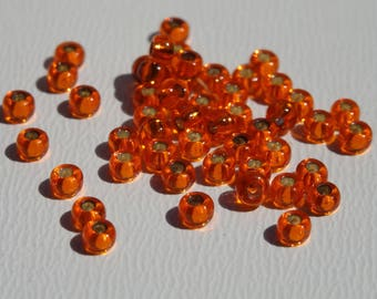 Seed beads 2mm Tangerine