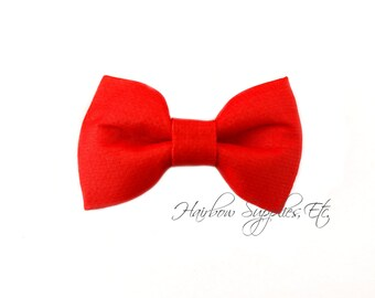 Red Fabric Bows 2.5 inch - Embellishment - Hair Bows, Bow Tie, Fabric Bows, Bows For Girls, Bow For Hair, Hair Bows For Babies