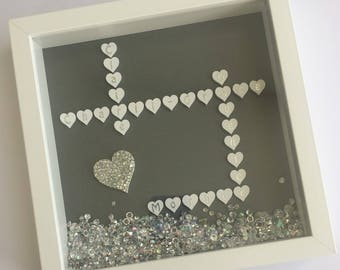 Personalised Heart Crossword Frame - suitable for any occasion such as birthdays, weddings, anniversaries or even as Christmas gifts.
