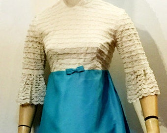 60s empire line minidress